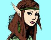 Dibujo Princesa elfo pintado por 78rome