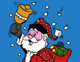 Santa Claus y su campana