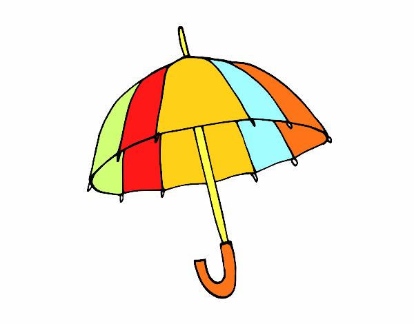 Dibujos De Paraguas Para Colorear E Imprimir: Dibujo De Un Paraguas Pintado Por En Dibujos.net El Día 08