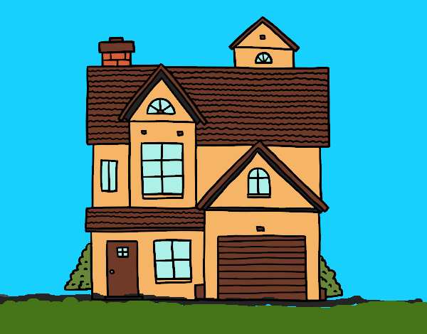 Dibujo Casa unifamiliar americana pintado por Clouster