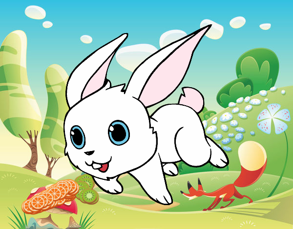 Dibujo Conejo de campo pintado por AmaiMei