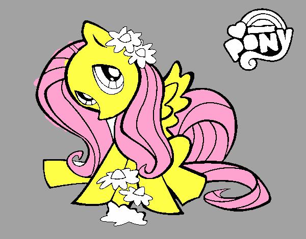 Dibujo De Fluttershy Para Colorear: Dibujo De Fluttershy Pintado Por En Dibujos.net El Día 15