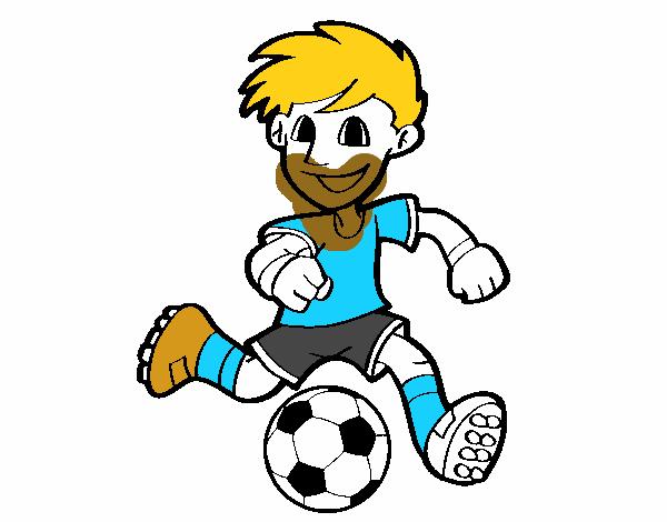 Dibujo De Jugador De Fútbol Con Balón Pintado Por Chicoxd: Dibujo De Jugador De Fútbol Con Balón Pintado Por Xrami