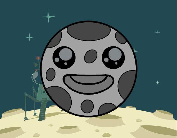 Dibujo La luna Kawaii pintado por Chuspitina