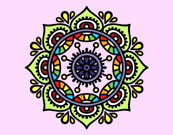 Dibujo Mandala para relajarse pintado por AmaiMei