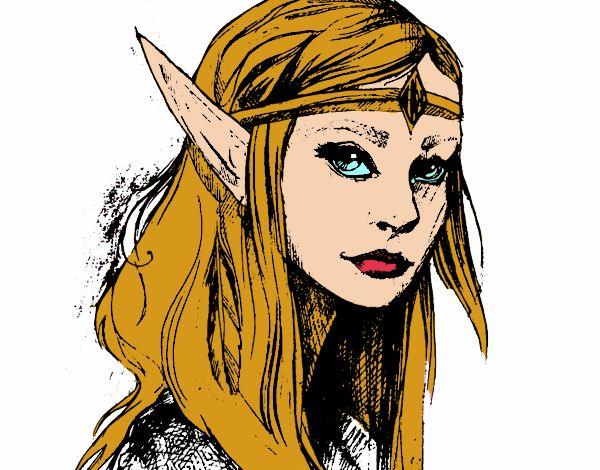 Dibujo Princesa elfo pintado por Chuspitina