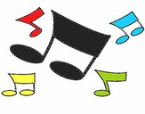 Dibujo Notas musicales pintado por Bertha1276