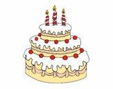 Dibujo Tarta de cumpleaños pintado por carlos11