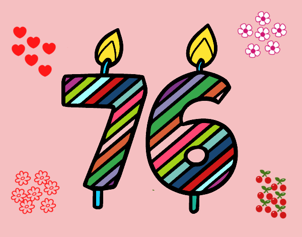 Dibujo de 76 a os pintado por en el d a 27 03 - Fiesta cumpleanos 8 anos ...