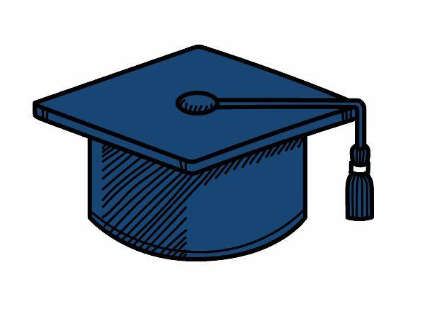 Dibujo de Birrete de graduacin pintado por en Dibujosnet el da