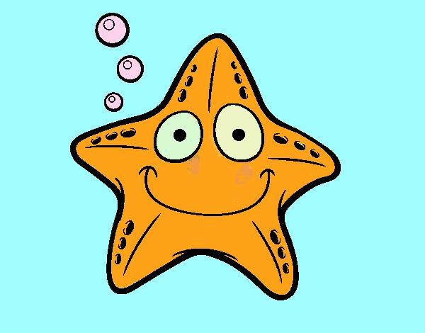 Dibujo De Estrella Marina Pintado Por En Dibujos.net El