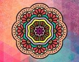 Mandala mosaico modernista