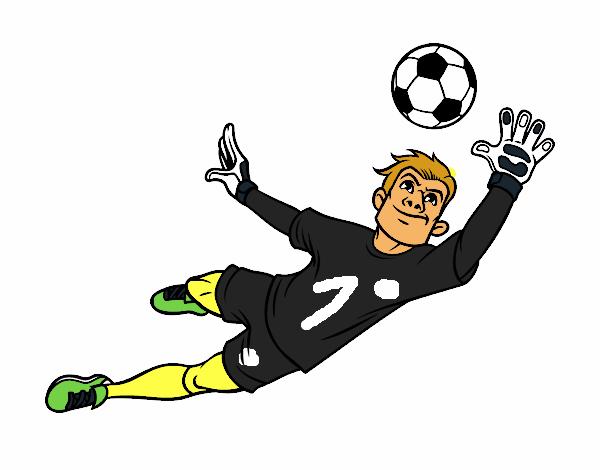 El Mejor Porter Para Colorear El Mejor Porter Para Imprimir: Dibujo De Un Portero De Fútbol Pintado Por En Dibujos.net