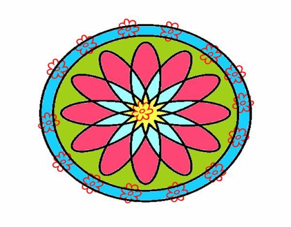 34 Mandalas Para Imprimir Y Colorear: Dibujo De Mandala 34 Pintado Por En Dibujos.net El Día 09