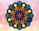 Dibujo Mandala reunión pintado por zaraypro
