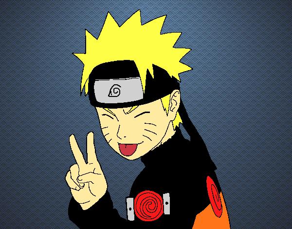 Dibujo de Naruto sacando lengua pintado por en Dibujosnet el da