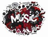 Dibujo Collage musical pintado por NatyG