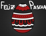 Dibujo Huevo de Pascua blanco y negro pintado por NatyG