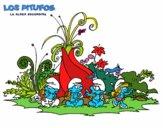 Dibujo Los Pitufos: La aldea escondida pintado por gogy