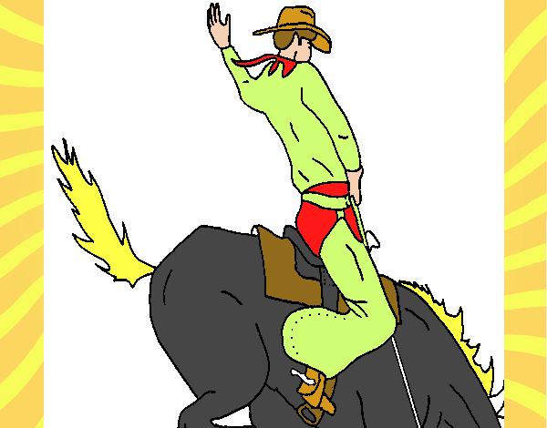 Un   caballo loco.