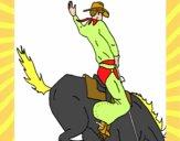 Vaquero en caballo