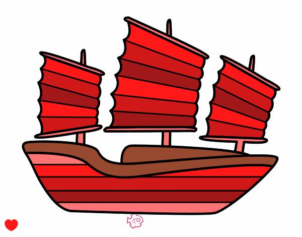 Dibujo Barco oriental pintado por Osiita