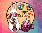 Dibujo Happy Easter pintado por cuyito