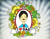 Dibujo I love Dad pintado por Michellinh