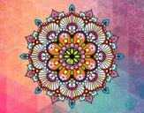Dibujo Mandala destello floral pintado por cuquina