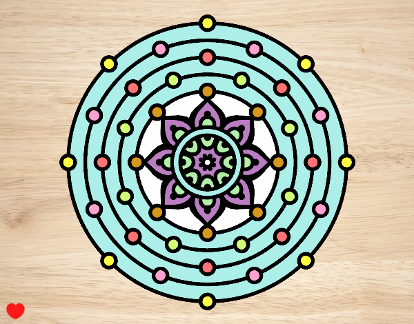 Dibujo Mandala sistema solar pintado por Osiita