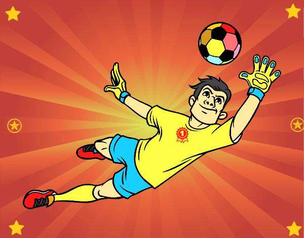Dibujo De Un Portero De Fútbol Para Colorear: Dibujo De Un Portero De Fútbol Pintado Por Michellinh En