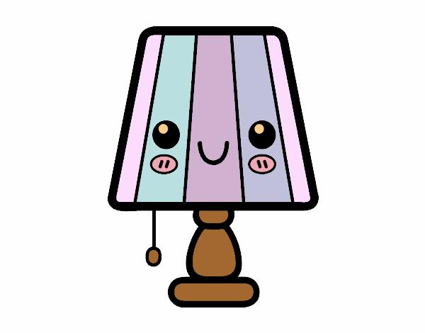 Dibujo de una l mpara de mesa pintado por osiita en - La casa de las lamparas ...
