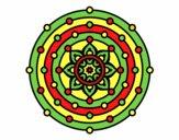 Dibujo Mandala sistema solar pintado por zzzzzzz