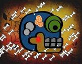 Una calavera azteca