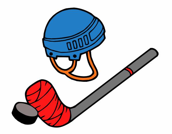 Dibujos Para Colorear Jugador De Hockey: Dibujo De Material De Hockey Pintado Por En Dibujos.net El