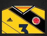 Dibujo Camiseta del mundial de fútbol 2014 de Colombia pintado por Joer