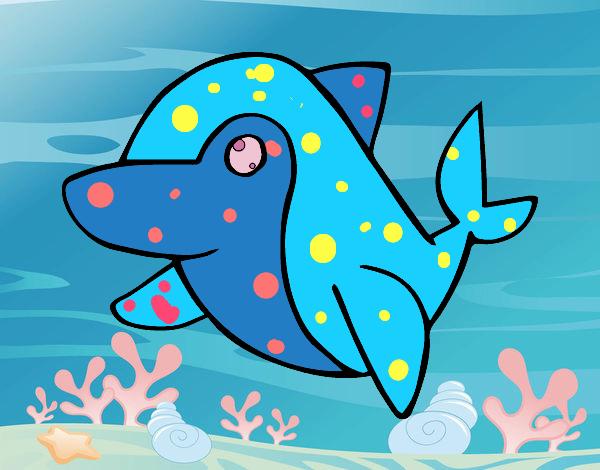 Dibujo Delfín común pintado por MARTHAISA
