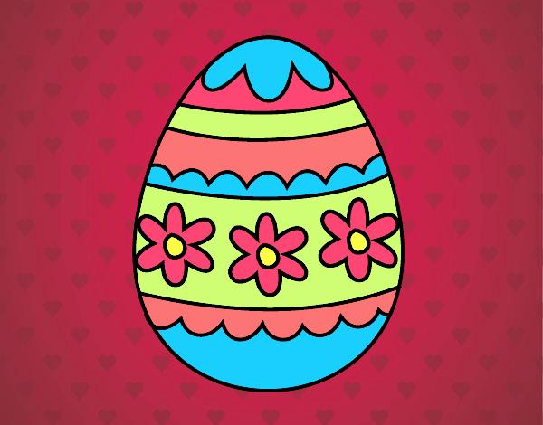 Dibujo Huevo de Pascua floral pintado por MARTHAISA