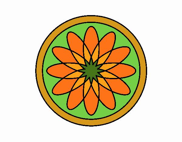 Dibujo Mandala 34 pintado por MARTHAISA
