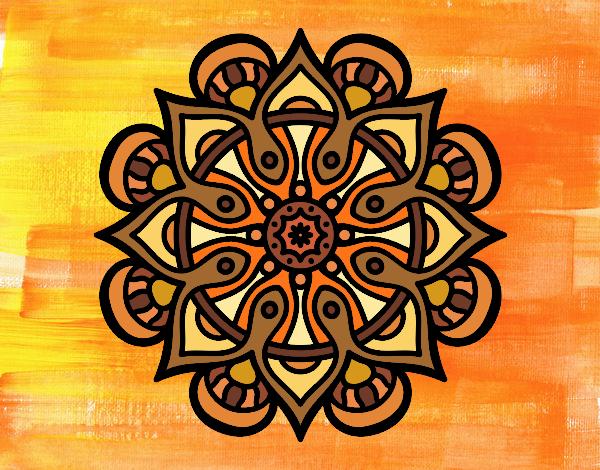 Dibujo Mandala mundo árabe pintado por MARTHAISA