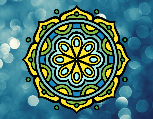 Dibujo Mandala para meditar pintado por MARTHAISA