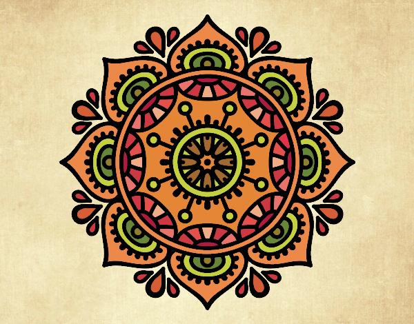Dibujo Mandala para relajarse pintado por MARTHAISA