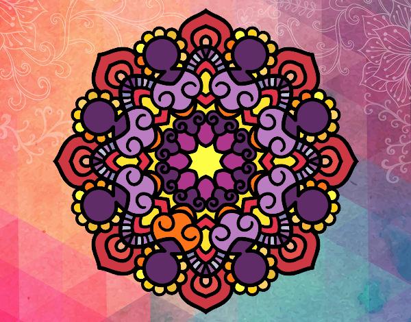 Dibujo Mandala reunión pintado por MARTHAISA