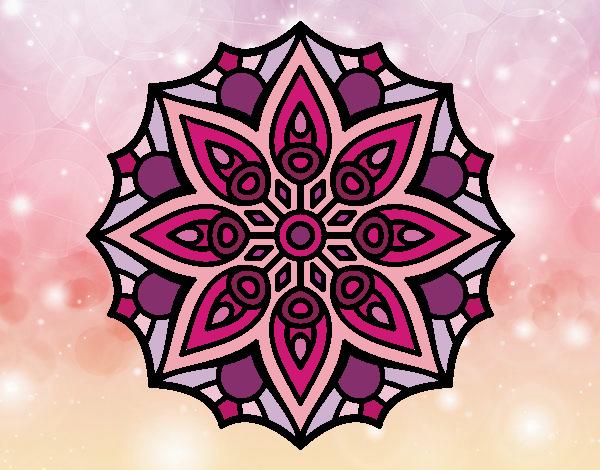 Dibujo Mandala simetría sencilla pintado por MARTHAISA