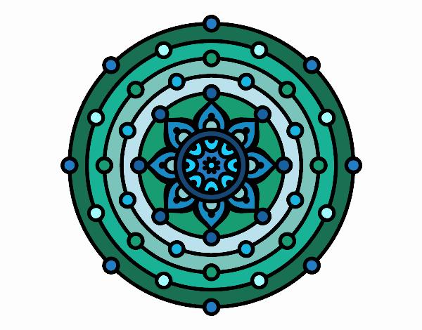 Dibujo Mandala sistema solar pintado por MARTHAISA