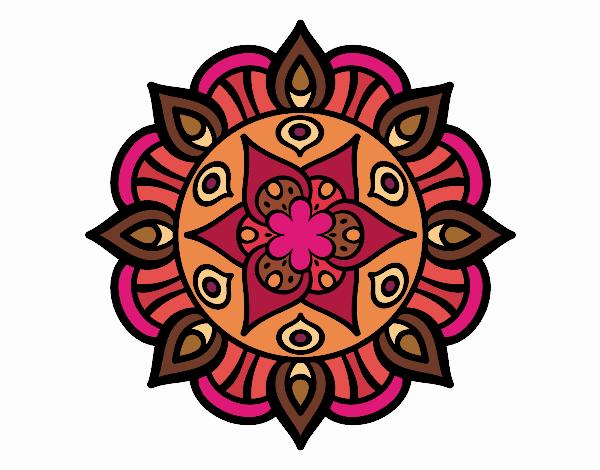 Dibujo Mandala vida vegetal pintado por MARTHAISA