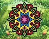 Dibujo Mandala vida vegetal pintado por Joer