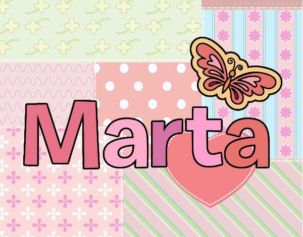 Dibujo Marta pintado por MARTHAISA