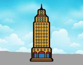 Dibujo Rascacielos pintado por Joer