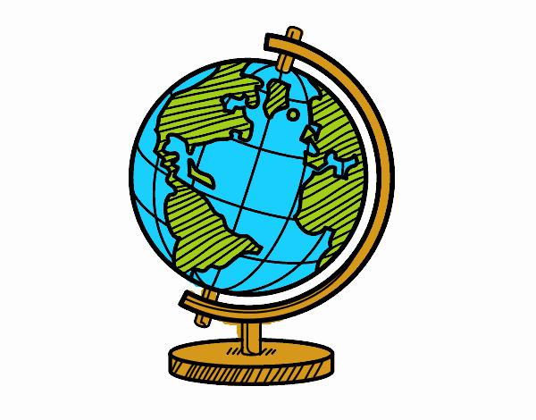 Dibujo de Un globo terrqueo pintado por en Dibujosnet el da 10